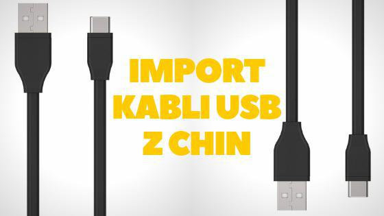 Import kabli USB z Chin
